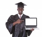 Graduation Man With Laptop