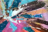 Bright abstract painting - background with expressive brush strokes