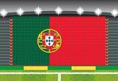 stadium transform cheering into Portugal flag