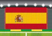 stadium transform cheering into Spain flag