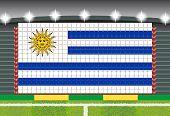 stadium transform cheering into Uruguay flag