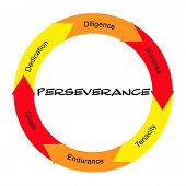 Perseverance Word Circle Concept Scribbled