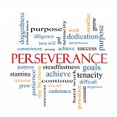 picture of perseverance  - Perseverance Word Cloud Concept with great terms such as endurance doggedness purpose and more - JPG