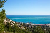 Javea in Alicante aerial view Valencian Community of spain with Mediterranean sea