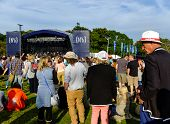 Festival goers at the Main stage at 'Festival No.6