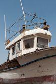 Abandoned old fishing boat.