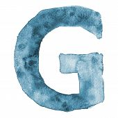 Watercolor vector capital letter G
