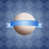 Golf Ball With Banner