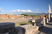 Famous antique ruins of Pompeii, Italy