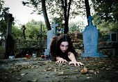 Vampire Gilr Portrait Coming
