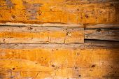 Aged Wood Logs Background