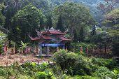 Main Entrance Gate To The Pagoda. Vietnam.