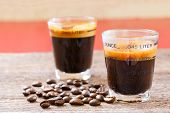 Espresso Shot Glass With Coffee Bean