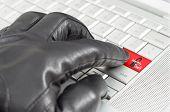 On-line Identity Theft Concept