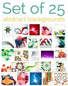 Large mega set of 25 abstract backgrounds, sale. Abstract waves, geometric shapes, Christmas and other