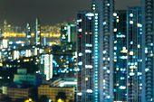Defocused city light