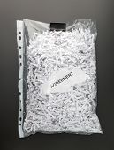 Shredded papers of agreement