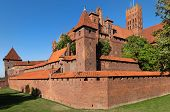 Malbork castle, Teutonic Knights' fortress also known as Marienburg, UNESCO World Heritage Site, Pol