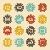 Electronic Appliances Web Icons,  Color Circle Buttons