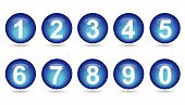 Collection Of Numbers - Blue Spheres.