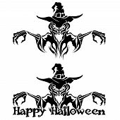 Halloween Graphic of Witch or Warlock
