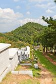 Defensive Wall Of Dongnae Castle In Busan, Korea