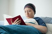 Cancer Girl Reading Book