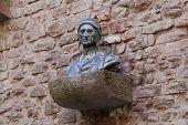 stock photo of alighieri  - Dante Alighieri monument in Galleria degli Uffizi in Florence - JPG