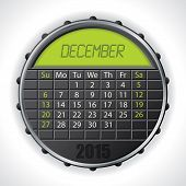 2015 December Calendar With Lcd Display