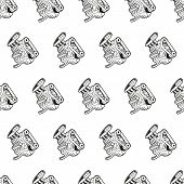stock photo of motor-bus  - motor seamless vector pattern illustration clip art - JPG
