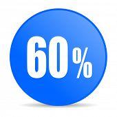 60 percent internet blue icon