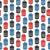 Garbage Icon Seamless Pattern