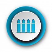 ammunition blue modern web icon on white background