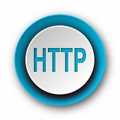 http blue modern web icon on white background
