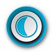 moon blue modern web icon on white background