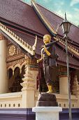 Buddha Statue In Traditional Asian Style. Vientiane, Laos