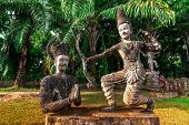 Mythology And Religious Statues At Wat Xieng Khuan Buddha Park. Vientiane, Laos