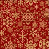 Christmas decoration seamless snowflake vector holiday texture.