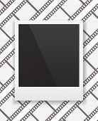 photo frame icon on film-strip background design