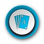 card blue modern web icon on white background
