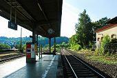 Diez City Railway Station Sunny Day View