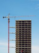 Crane And Construction Of A Building
