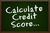 Calculate credit score blackboard concept