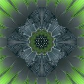 Rosette Fractral Green
