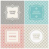 image of decorative  - Vector mono line graphic design templates  - JPG
