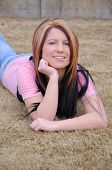 Attractive Young Lady Outdoors  005