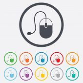 picture of optical  - Computer mouse sign icon - JPG