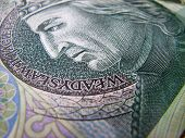 100 PLN Note - detail