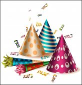 Colorfull party items -hats and blowers