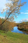 Beautiful Autumn Landscape With River